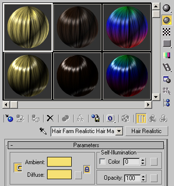 Materials - Hair Farm™ - The Ultimate Hair Plug-in for 3ds Max